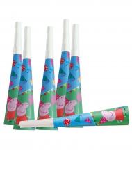 6 Trombetas de cartão Peppa Pig™