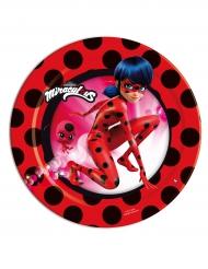 8 Pratos pequenos de cartão Ladybug™
