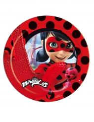 8 Pratos de cartão Ladybug™ 23 cm