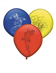 8 Balões de látex Avengers™ - Os Vingadores™