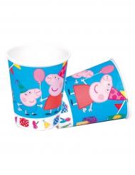 8 Copos de cartão Peppa Pig™ 220 ml- Porquinha Peppa Pig™