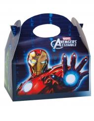 Caixa para prenda de cartão Vingadores™ 16 x 10.5 x 16 cm