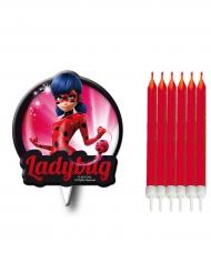 Velas de aniversário com silhueta Ladybug™