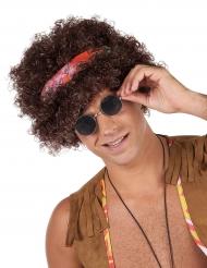 peruca afro hippie castanha - 130 g