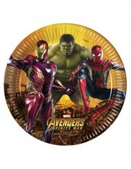 8 Pratos Avengers Infinity War™ - Os Vingadores