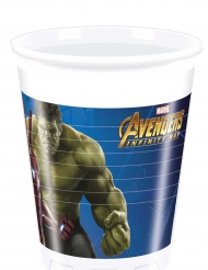 8 Copos de plástico Avengers infinity War™ - Os Vingadores™