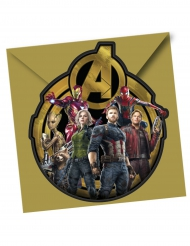 6 Convites com envelopes - Avengers Infinity War™ Os Vingadores™