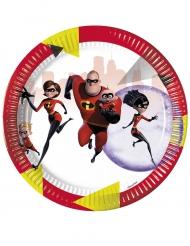 8 Pratos de cartão - Os Super-Heróis 2™