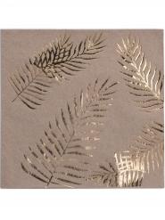 16 Guardanapos de papel kraft Palmier dourado 33 x 33 cm