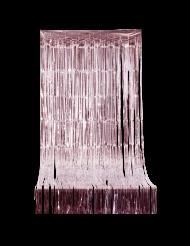 Cortina cintilante com franjas cor-de-rosa gold 2.44 x 92 cm