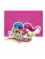 6 Convites com envelopes Shimmer and Shine™