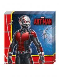 20 Guardanapos de papel Ant-Man™ 33 x 33 cm Homem-Formiga™