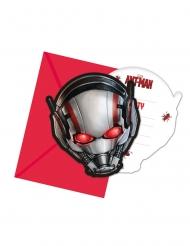 6 Convites com envelopes Ant-Man™ 14 x 9 cm Homem-Formiga™