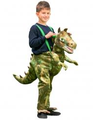 Disfarce às costas de dinossauro criança