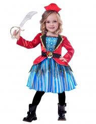 Disfarce pequena pirata menina