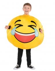 Disfarce emoticon riso criança