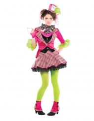 Disfarce Chapeleiro maluco cor-de-rosa menina