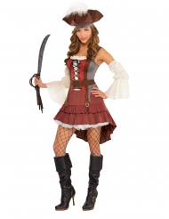 Disfarce pirata sexy assimétrico mulher