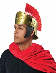 Capacete romano adulto com crina vermelha