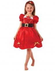 Disfarce Miss Natal vermelho menina