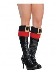 Cobre-botas mão natal sexy mulher