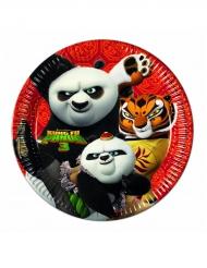 8 Pratos de cartão O Panda do Kung Fu 3™