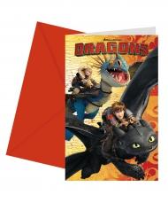 6 Convites com envelopes - Como treinar o seu Dragão™