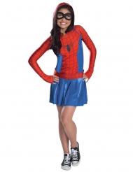 Disfarce Spider-Girl™ com capuz menina