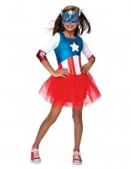 Disfarce Captain Marelica™ com tutu menina - Os Vingadores™