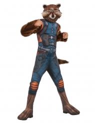 Disfarce luxo com máscara Rocket Raccoon™ criança