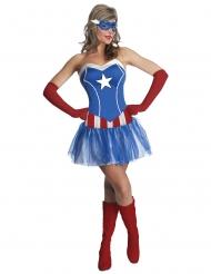 Disfarce vestido Miss America™ mulher