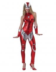 Disfarce macacão Iron girl™ mulher