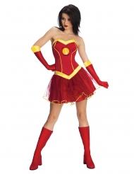 Disfarce vestido Iron girl™ mulher