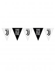 Grinalda de bandeirolas em plástico Juventus™ preto e branco