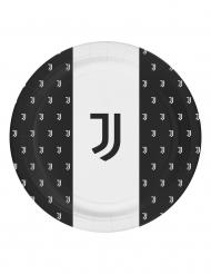 8 Pratos de cartão Juventus™ 23 cm