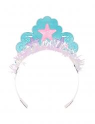 8 Coroas de cartão Princesa Sereia iridescentes
