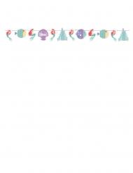 Grinalda de cartão efeito metálico premium Ariel™ 108 x 18 cm