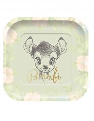 4 Pratos de cartão quadrados premium Bambi™ 24 x 24 cm