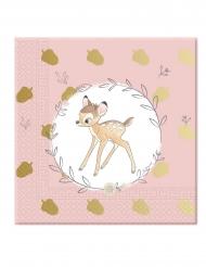 20 Guardanapos de papel 33 x 33 cm premium Bambi™