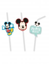 6 Palhinhas flexíveis com imagem premium Mickey™