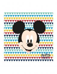 20 Guardanapos de papel premium Mickey™ 33 x 33 cm