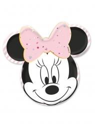 4 Pratos de cartão premium rosto Minnie™