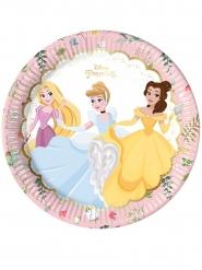 8 Pratos de cartão premium Princesas Disney™