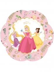 4 Pratos de cartão flor premium Princesas Disney™