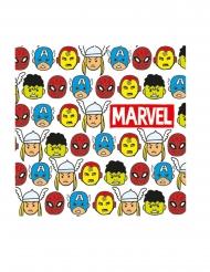 20 Guardanapos de papel premium Avengers™ pop comic - Os Vingadores™
