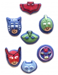 7 Mini figurinas de açúcar 2D Pj Masks™ 11 g
