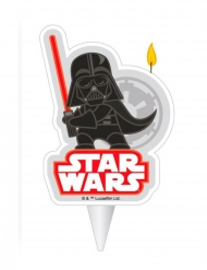 Vela de aniversário Darth Vader Star Wars™ 2D 7.5 cm