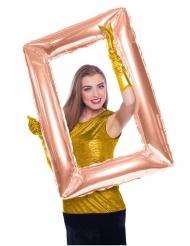 Balão de alumínio Quadro retangular cor-de-rosa gold 85 x 60 cm