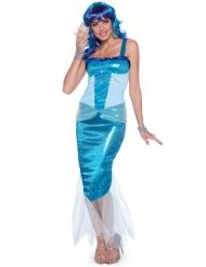 Disfarce Sereia azul mulher