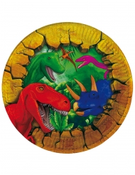 6 Pequenos pratos de cartão Dinossauros